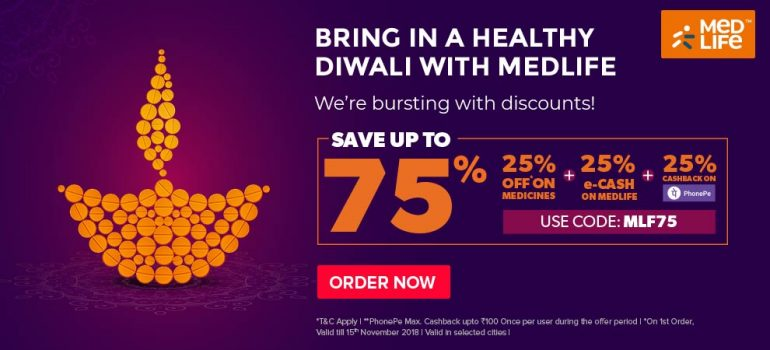 upto 75% off on medicines (25% phonepe cashback)