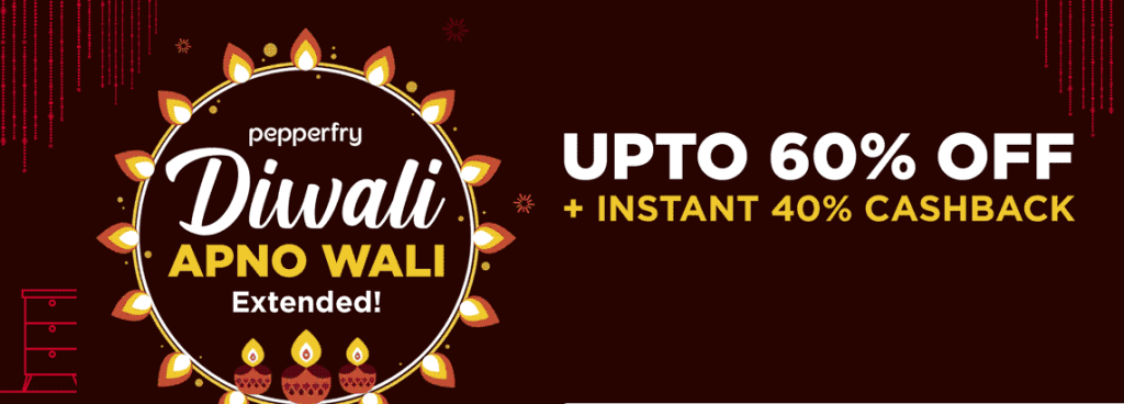 Pepperfry HDFC Bank Offer on diwali sale