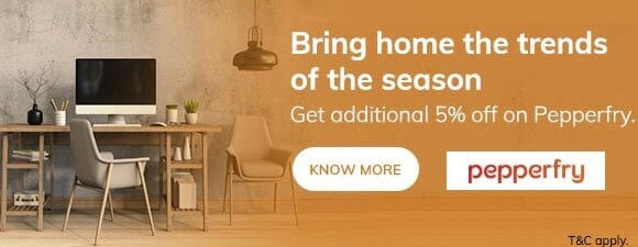 Pepperfry ICICI Bank Offer