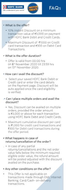 Myntra HDFC Offer 2020