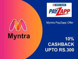 Myntra PayZapp Offer 300
