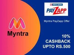 Myntra PayZapp Offer 500