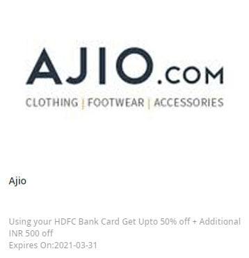 ajio hdfc offer