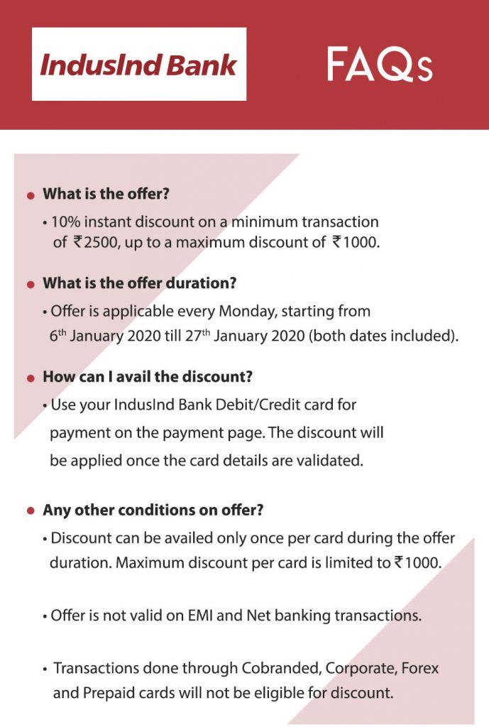 Myntra IndusInd Bank Offer
