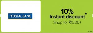 Bigbasket Federal Bank Offer
