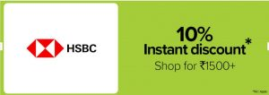 Bigbasket HSBC Offer