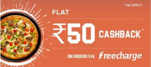 Dominos Freecharge Offer 1