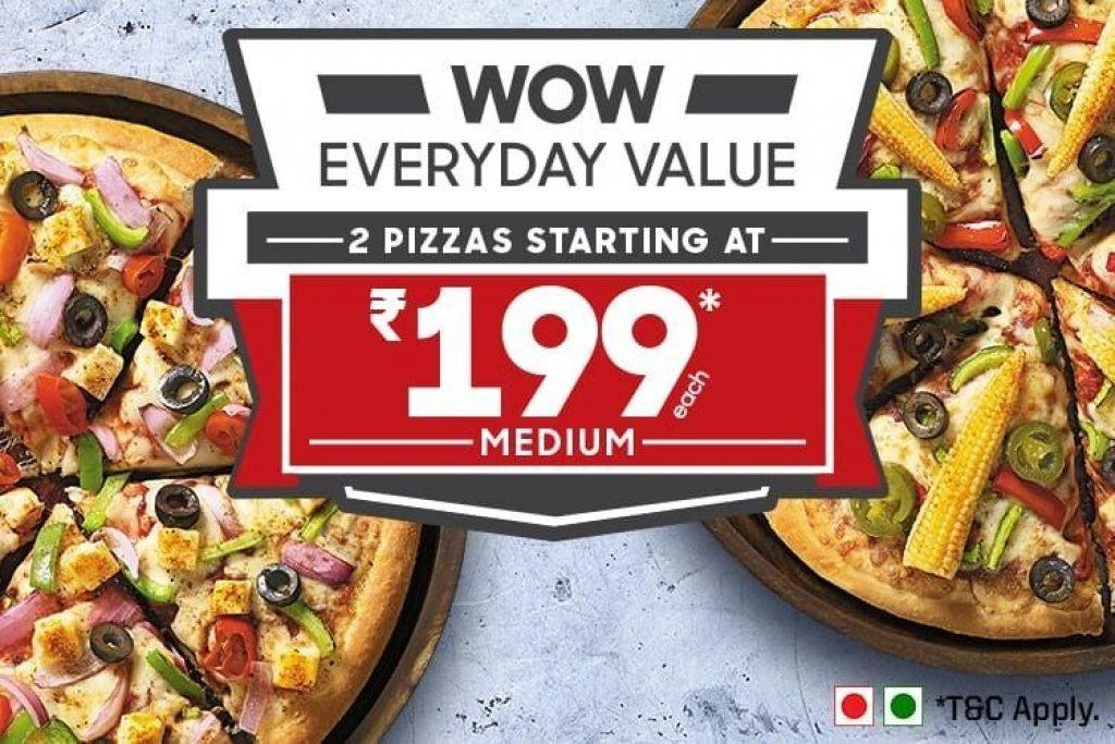 Pizza Hut Wow Everyday Value 199