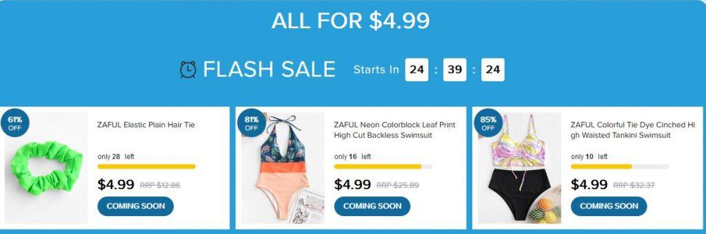 Zaful Flash Sale