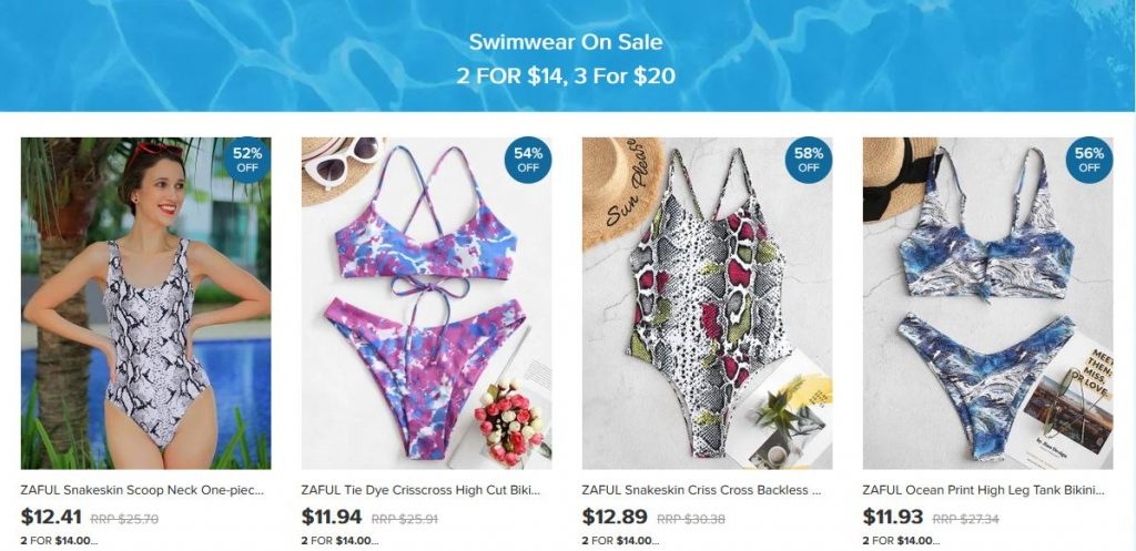 Zaful Swimwear Sale