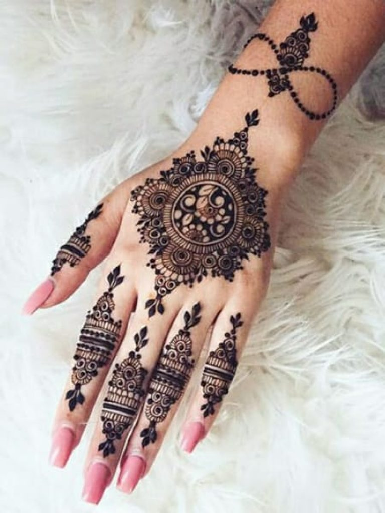 Back Flower Arabic Mehndi Design