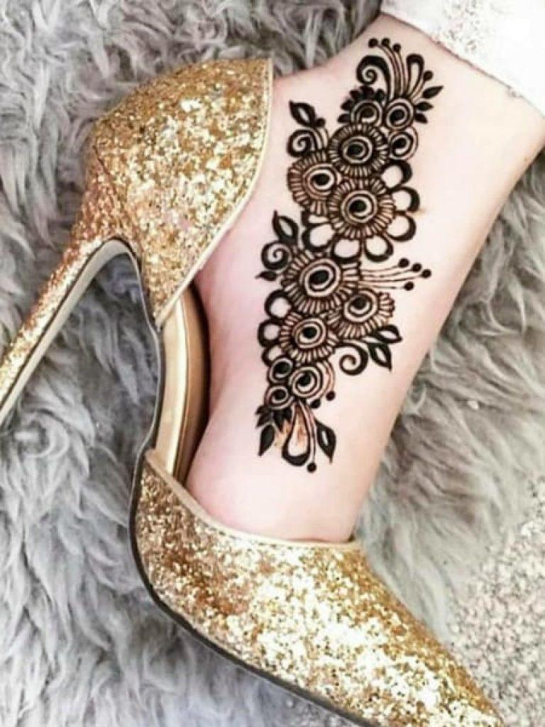 Arabic Mehndi Design for Ankle