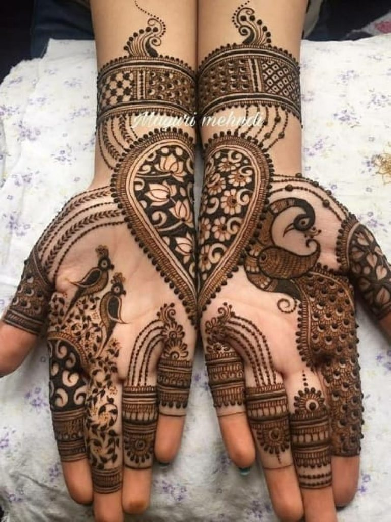 Full Coverage Peacock Arabic Mehndi