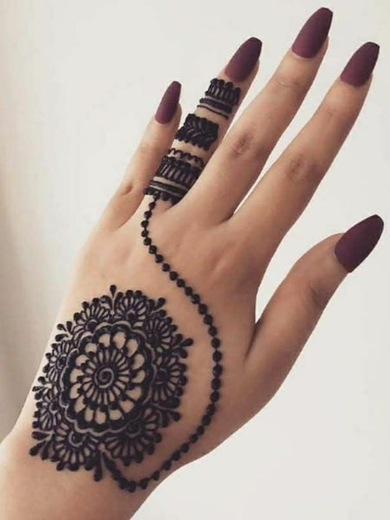 Centre Flower Arabic Mehndi