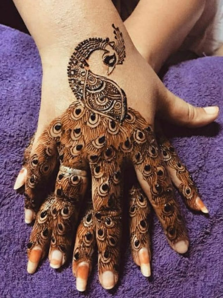 Peacock Arabic Mehndi Design