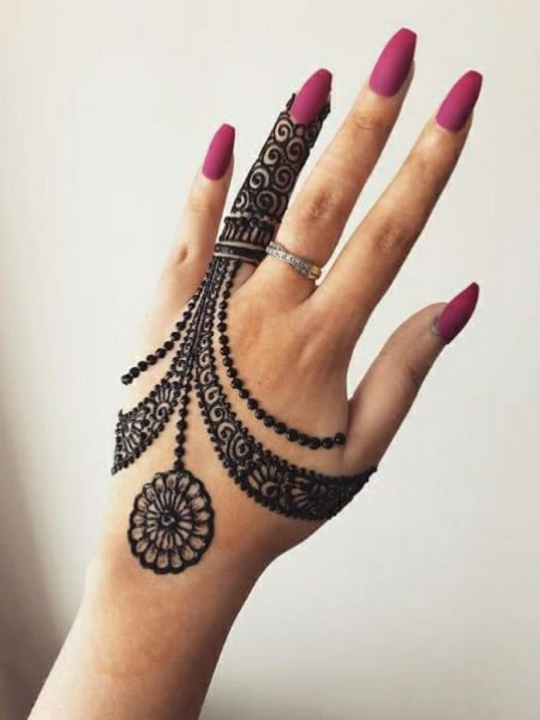 Dotted Flowers Arabic Mehndi  Design