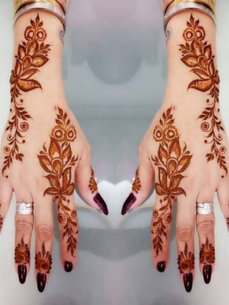 Indo-Western Arabic Mehndi Design