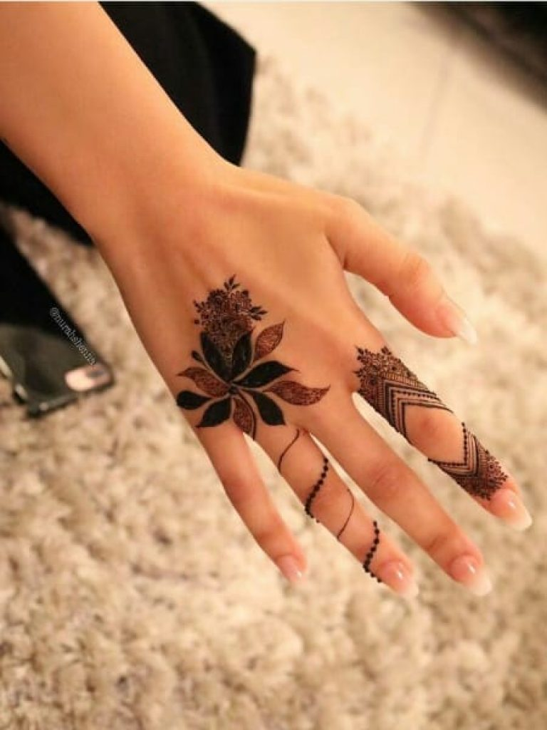 Floral Tattoo Arabic Mehndi Design