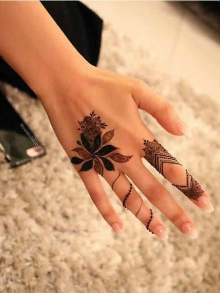 Floral Tattoo Arabic Mehndi Design