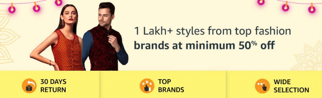 Amazon Diwali Offers on Fashion