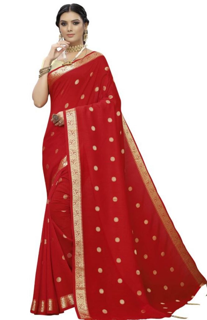 Red Banarasi Saree