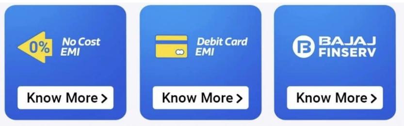 no cost emi and debit card emi offers with Bajaj Finserv