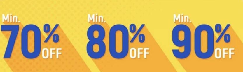 flipkart sale 70 80 90% off