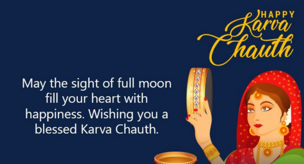 wishing you a blessed karva chauth
