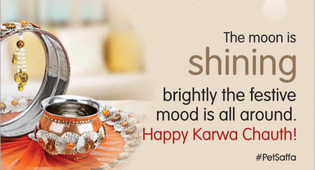 happy karwa chauth shining