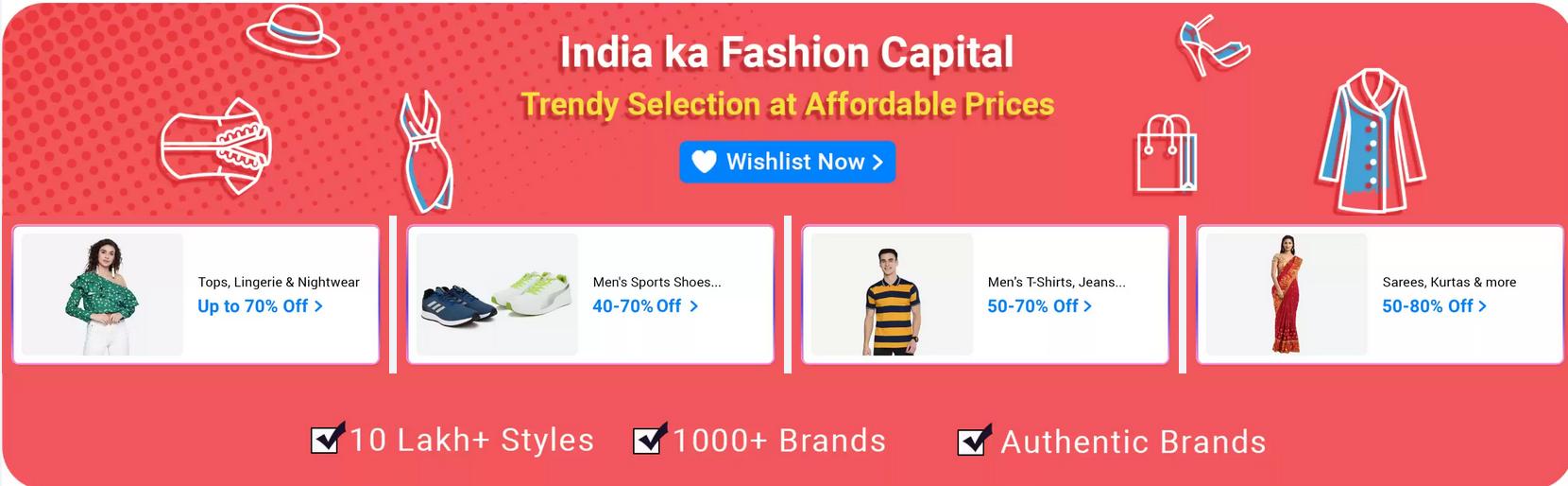 flipkart fashion sale today