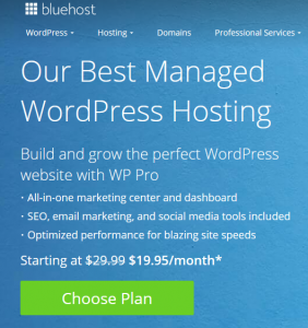 Bluehost WordPress Pro on US website