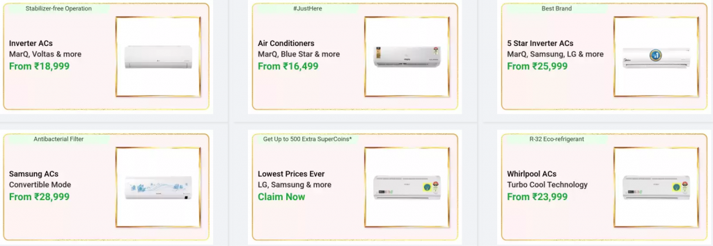 Huge Flipkart discount on Air Conditioners on Dussehra