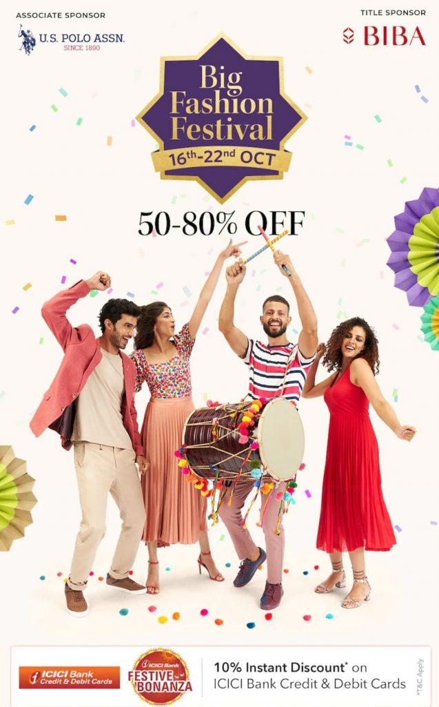 Myntra Big Fashion Festival Sale