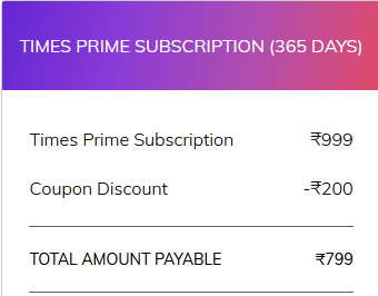 Times Prime Membership Coupon Code