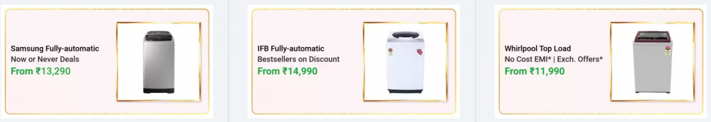 Huge Discount on Washing Machines