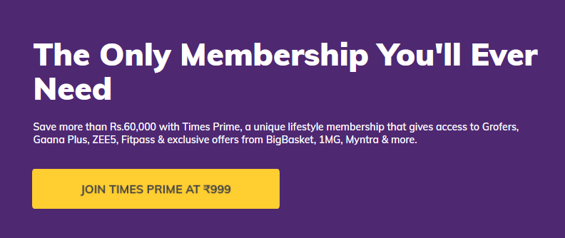 Times Prime FreeCharge Offer