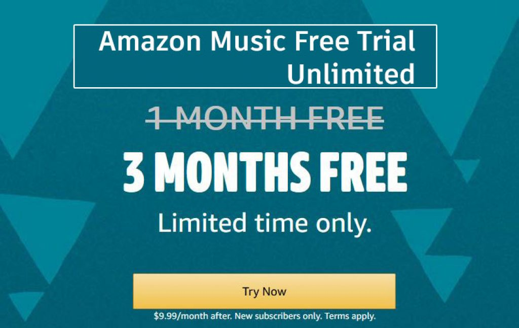 Amazon Music Free Trial for 3 Months