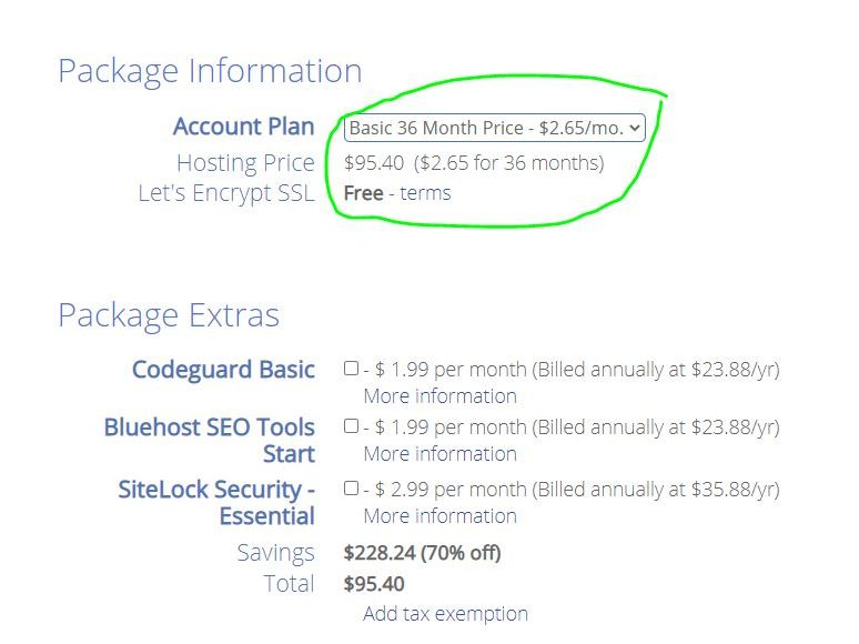 Bluehost black friday discount on shared plan