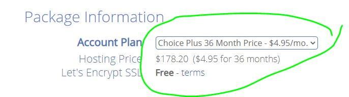 Bluehost choice plus plan discount