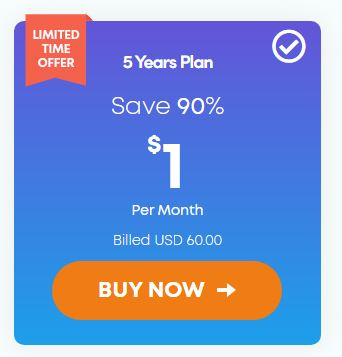 Ivacy VPN 5 year Subscription Plan