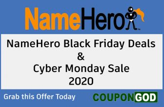 Namehero black friday deals 2020 & cyber monday sale