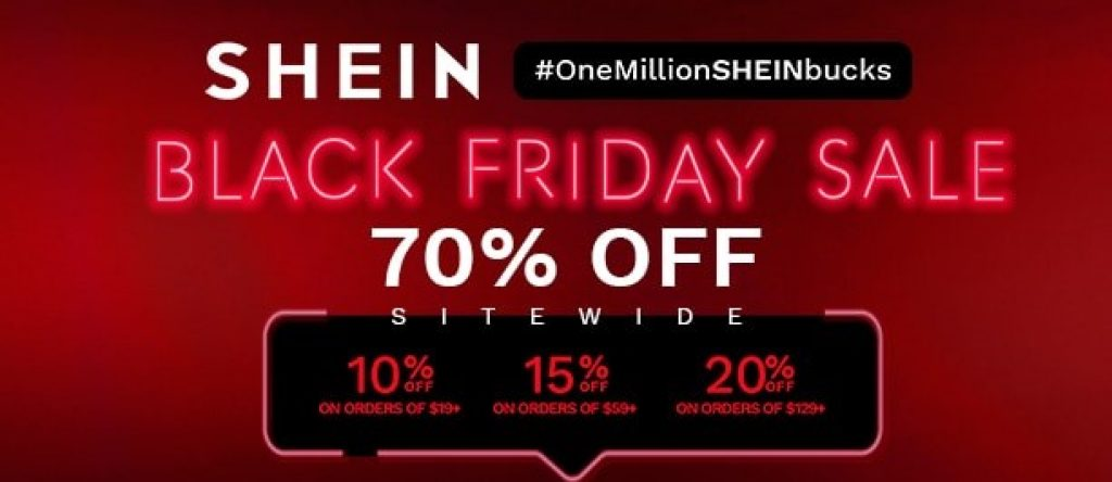Shein black friday sale