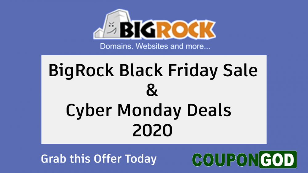 bigrock black friday sale & Cyber monday deals 2020