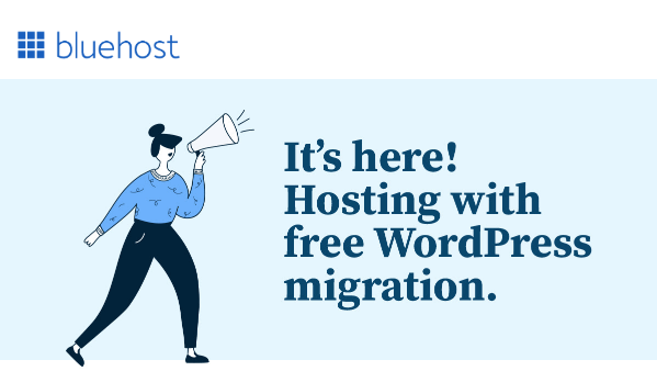 bluehost free website migration
