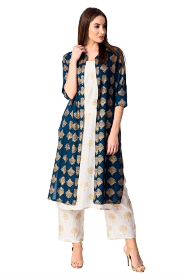 Printed Jacket Kurta