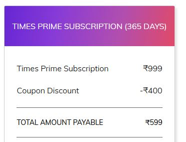 Times Prime Airtel Offer