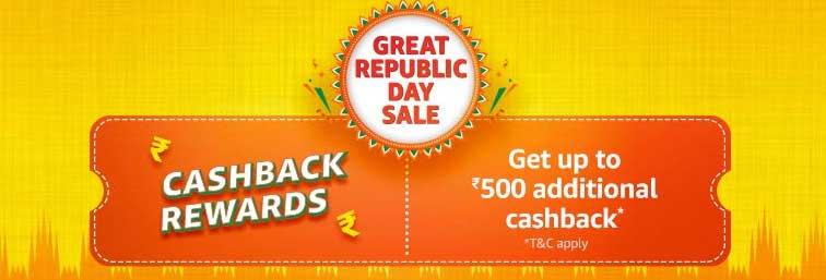 Amazon Cashback Rewards during Great Republic Day Sale
