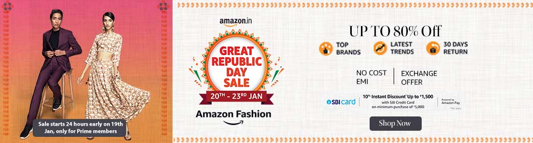 Amazon Fashion Offer during Great Republic Day Sale