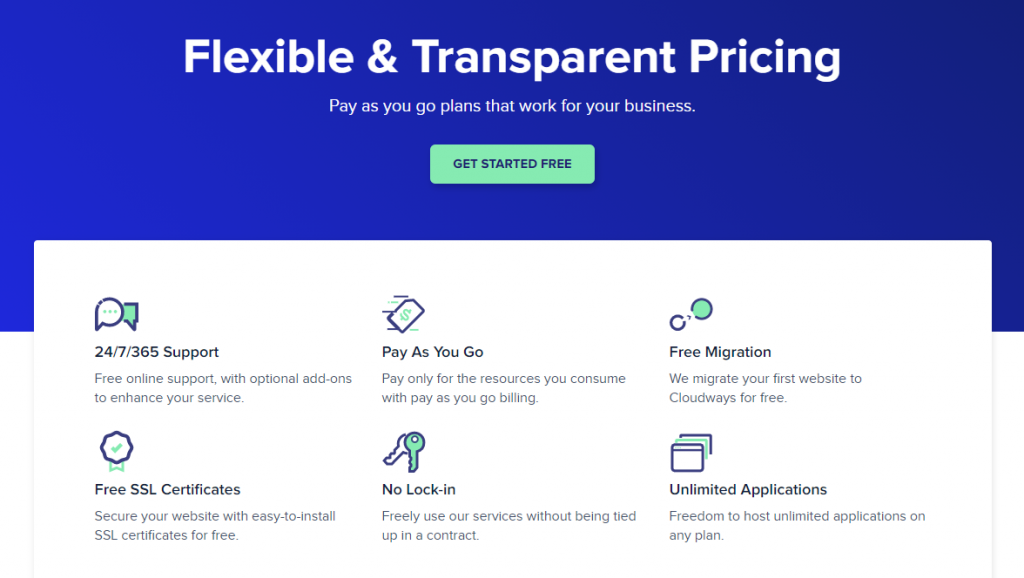cloudways flexible and transparent pricing