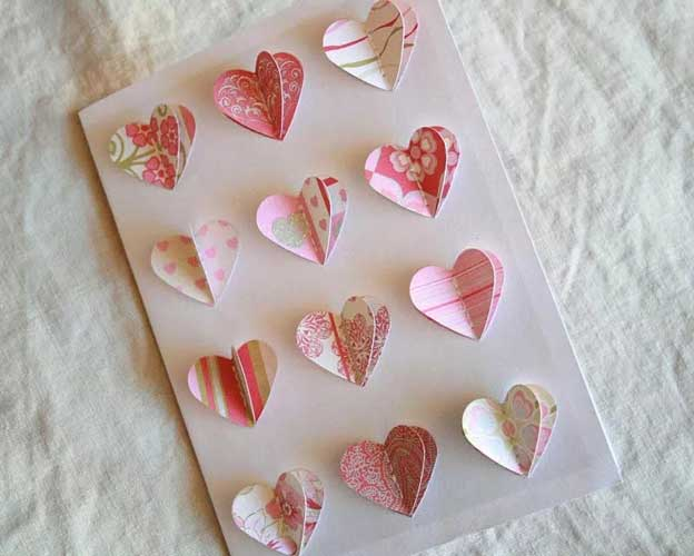 3D Heart Style - Handmade Valentine Day Card Ideas for husband
